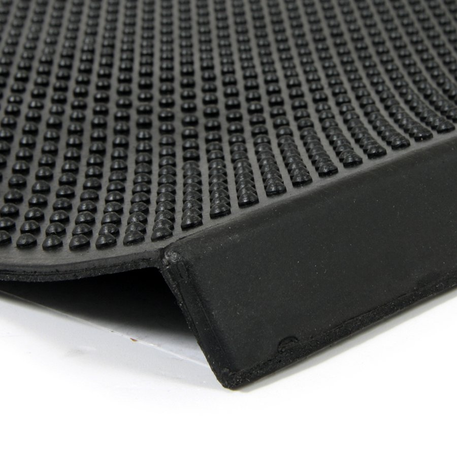 Gumová schodová rohož Rubber Brush, FLOMAT - délka 25 cm, šířka 75 cm a výška 0,5 cm