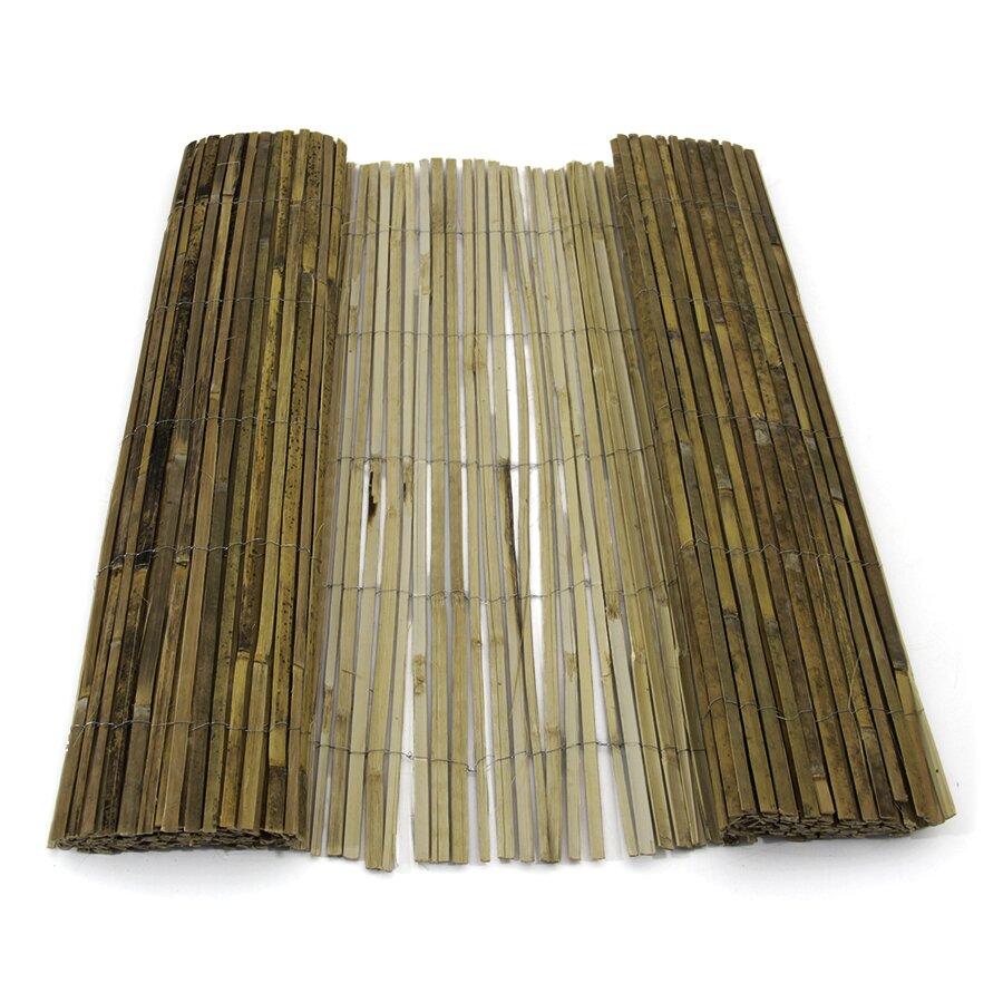 """Bambusová stínící rohož """"štípaný bambus nelakovaný"""" - délka 500 cm a výška 200 cm"""