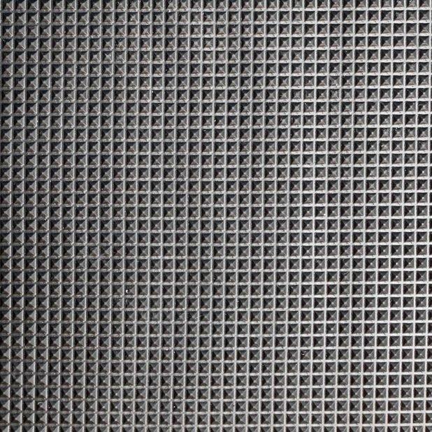 Černá gumová průmyslová protiúnavová protiskluzová rohož - délka 150 cm, šířka 90 cm a výška 1 cm