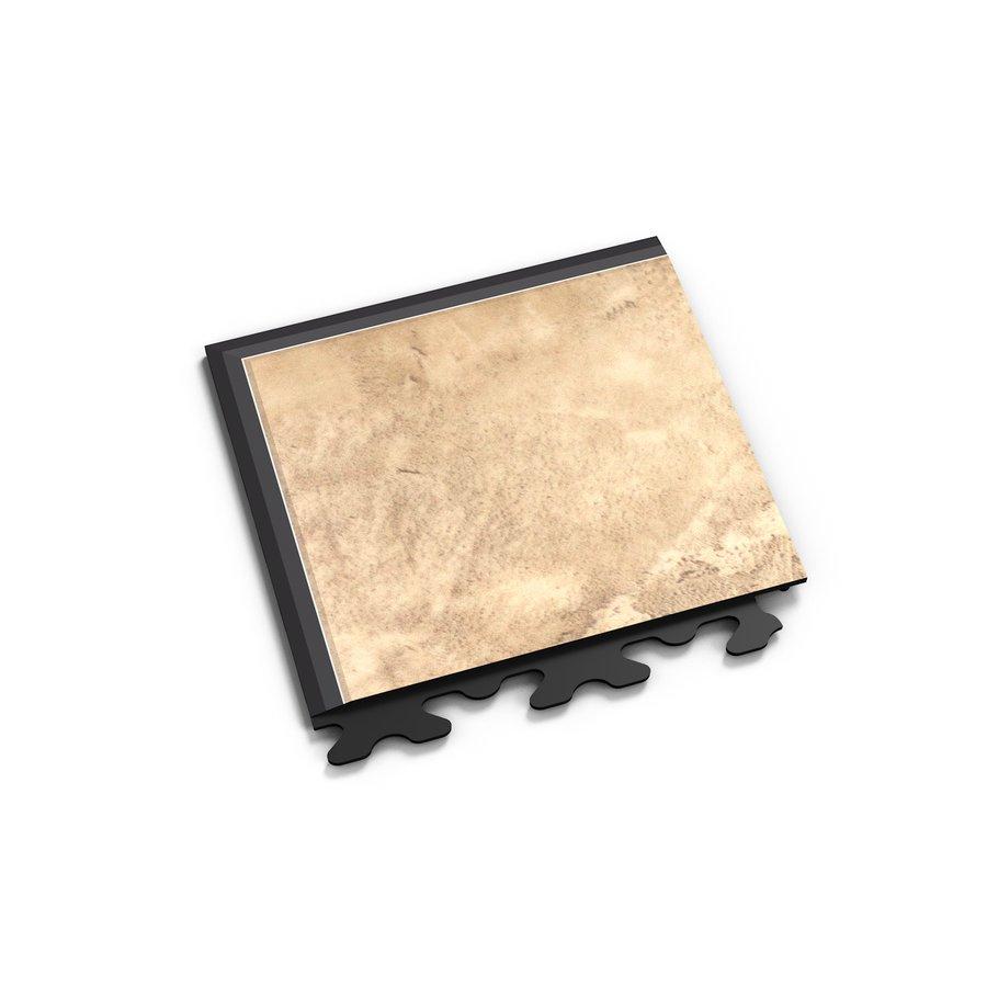"Béžový vinylový plastový rohový nájezd ""typ A"" Fortelock Business Decor 2126 - délka 14,5 cm, šířka 14,5 cm a výška 0,65 cm"