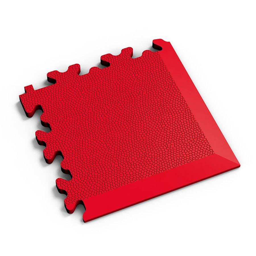 Červený vinylový plastový rohový nájezd Fortelock 2026 (kůže) - délka 14 cm, šířka 14 cm a výška 0,7 cm