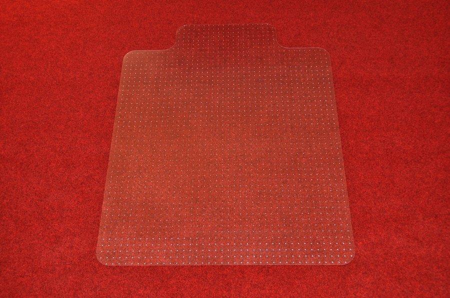 Čirá podložka pod židli na koberec - délka 134 cm, šířka 120 cm a výška 0,3 cm