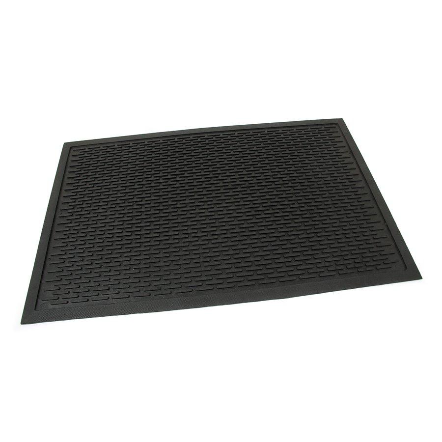 Gumová průmyslová protiúnavová protiskluzová rohož Scraper, FLOMAT - délka 55 cm, šířka 85 cm a výška 0,6 cm