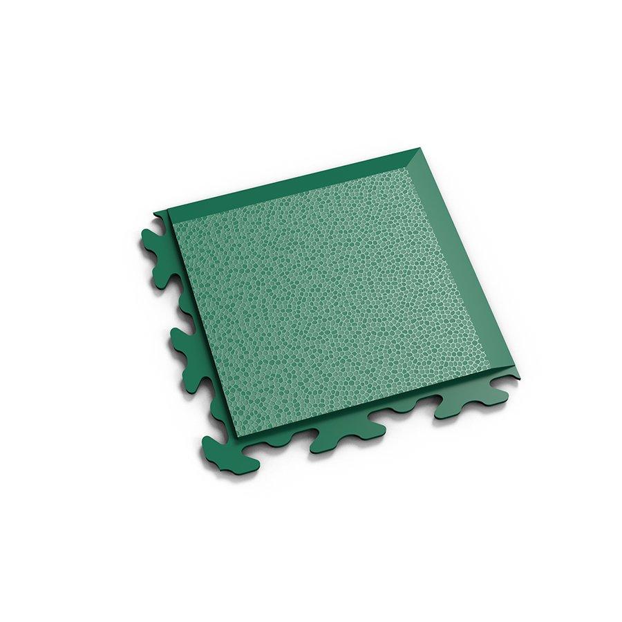 """Zelený vinylový plastový rohový nájezd """"typ B"""" Invisible 2037 (hadí kůže), Fortelock - délka 14,5 cm, šířka 14,5 cm a výška 0,67 cm"""