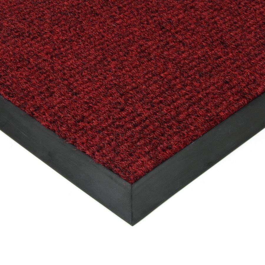 Červená textilní vstupní vnitřní čistící zátěžová rohož Catrine, FLOMAT - délka 1 cm, šířka 1 cm a výška 1,35 cm