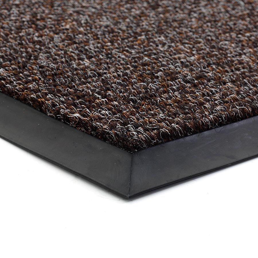 Tmavě hnědá textilní zátěžová čistící vnitřní vstupní rohož FLOMA Catrine - výška 1,35 cm