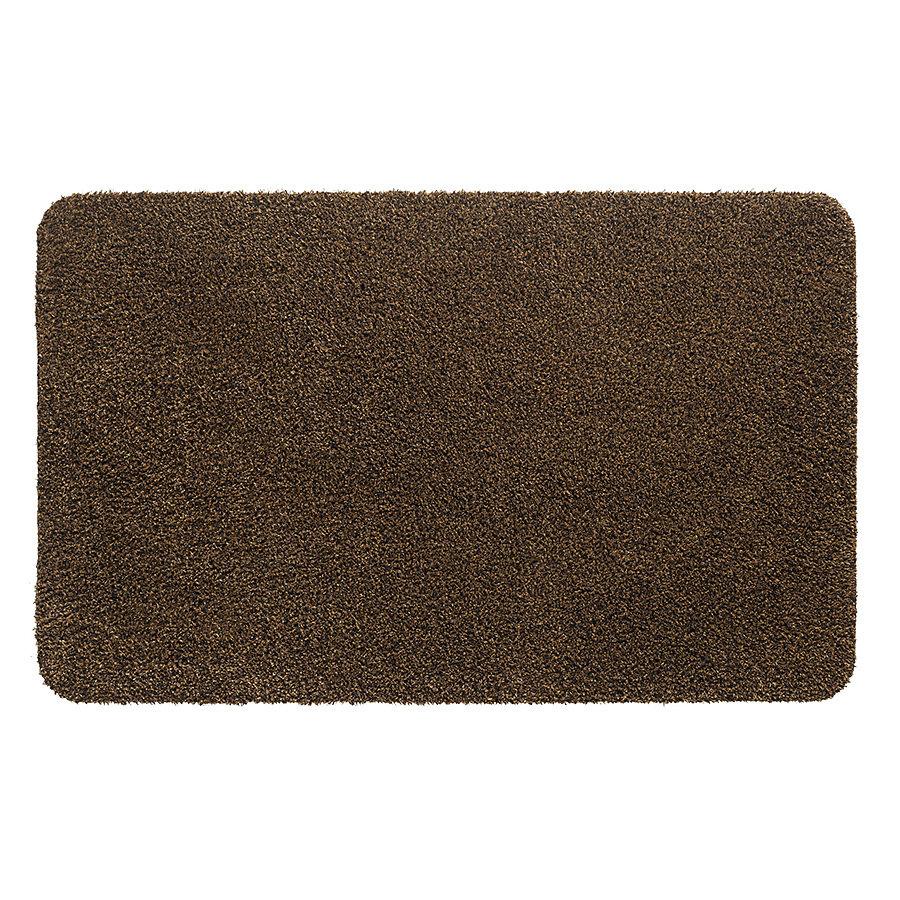 Hnědá metrážová čistící vnitřní vstupní pratelná rohož Aqua Stop, FLOMA - délka 1 cm a výška 0,6 cm