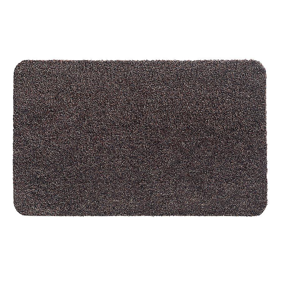 Tmavě hnědá metrážová čistící vnitřní vstupní pratelná rohož Aqua Luxe, FLOMA - délka 1 cm a výška 1,2 cm