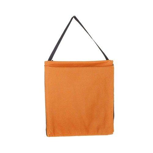 Oranžové plážové skládací lehátko s ocelovou konstrukcí - délka 150 cm a šířka 54 cm