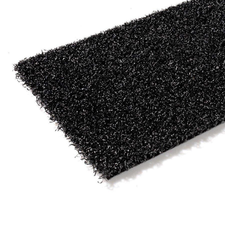 Černý metrážový umělý trávník Colourfull Grass, Black, FLOMA - délka 1 cm a výška 1,4 cm
