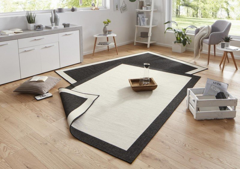 Béžovo-černý oboustranný kusový koberec Twin-Wendeteppiche - délka 350 cm a šířka 80 cm