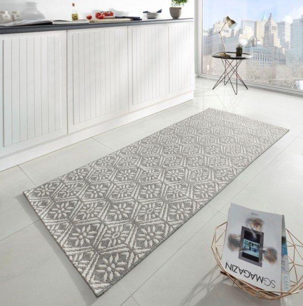 Šedý moderní kusový koberec Soho - délka 200 cm a šířka 80 cm