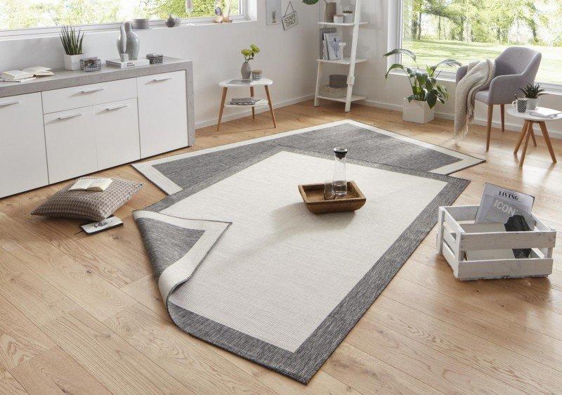Šedý kusový oboustranný koberec Twin-Wendeteppiche - délka 170 cm a šířka 120 cm