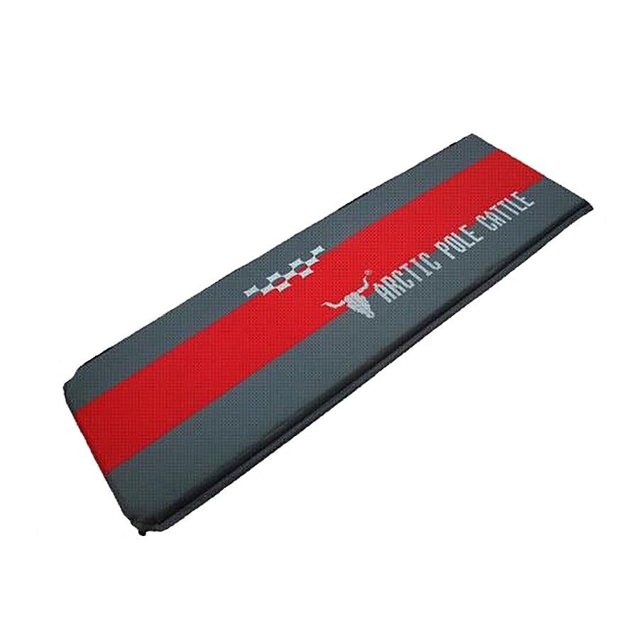Šedo-červená samonafukovací karimatka - délka 190 cm, šířka 60 cm a výška 3,5 cm