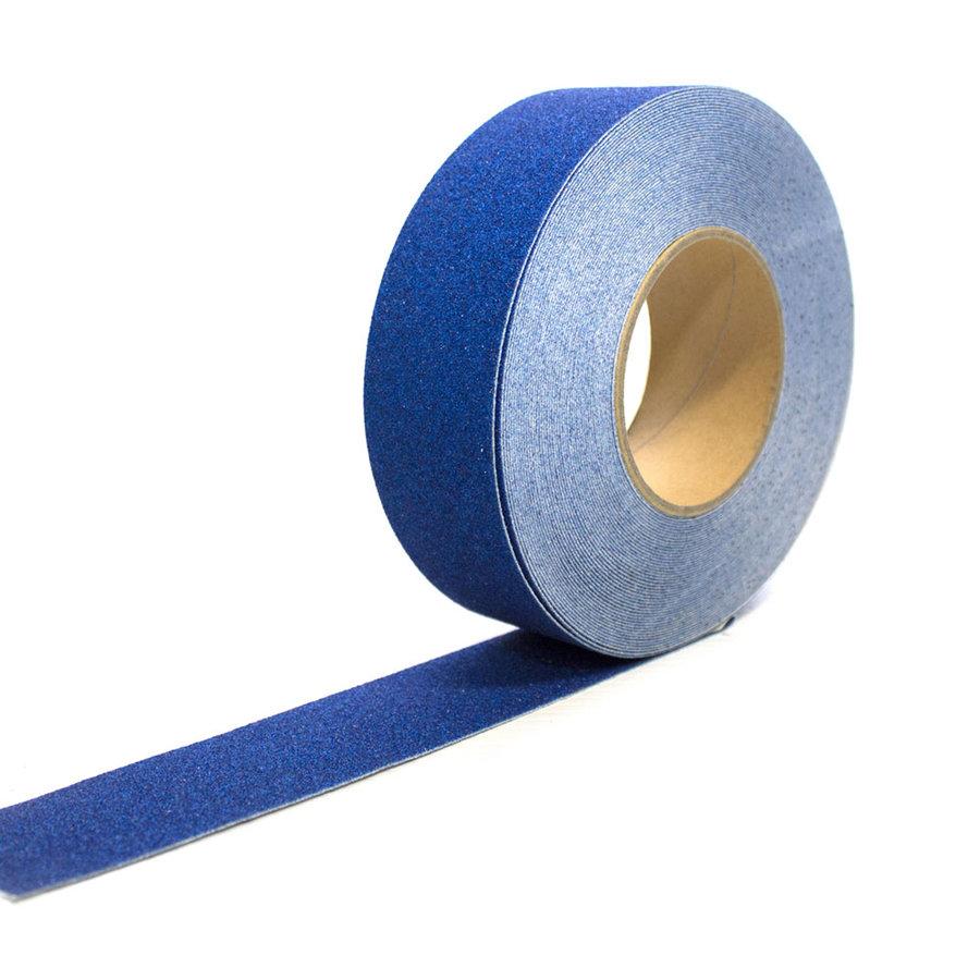 Modrá korundová protiskluzová páska - délka 18,3 m a šířka 5 cm