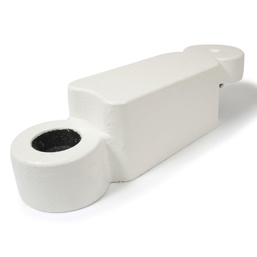 Bílý plastový silniční obrubník - délka 58 cm, šířka 16 cm a výška 15,8 cm