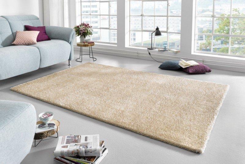 Béžový kusový koberec Glam - délka 110 cm a šířka 60 cm