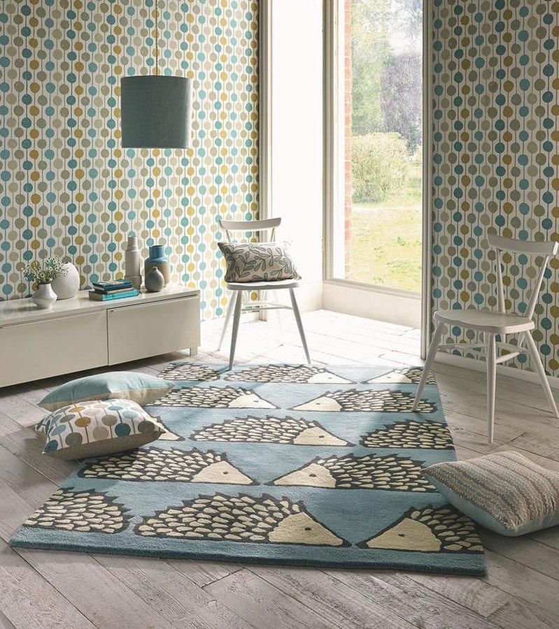 Světle modrý moderní kusový koberec Spike - délka 200 cm a šířka 140 cm
