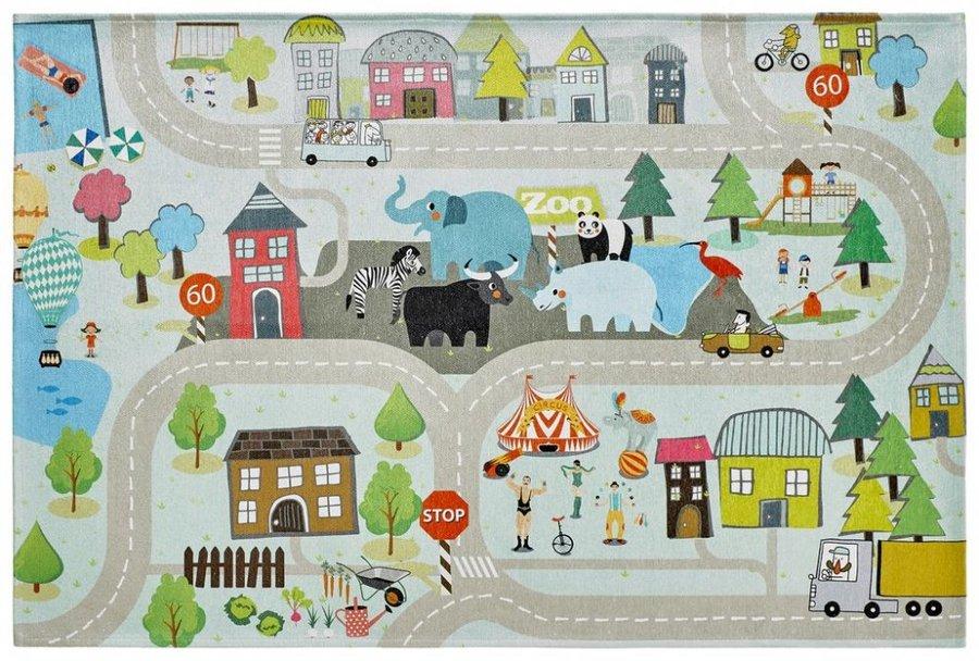 Různobarevný kusový dětský hrací koberec Torino Kids - délka 230 cm a šířka 160 cm