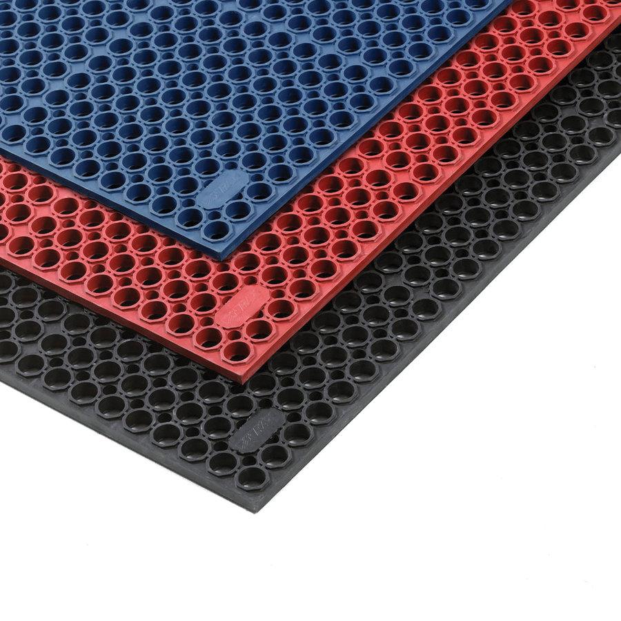 Červená olejivzdorná protiúnavová průmyslová rohož Sanitness De Lux, FLOMA - délka 152 cm a šířka 91 cm