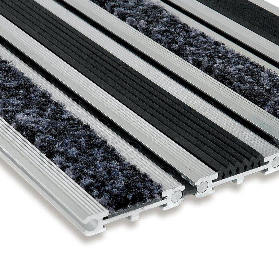 Textilní gumová hliníková vstupní rohož Wella, FLOMA - délka 1 cm, šířka 1 cm a výška 1,4 cm