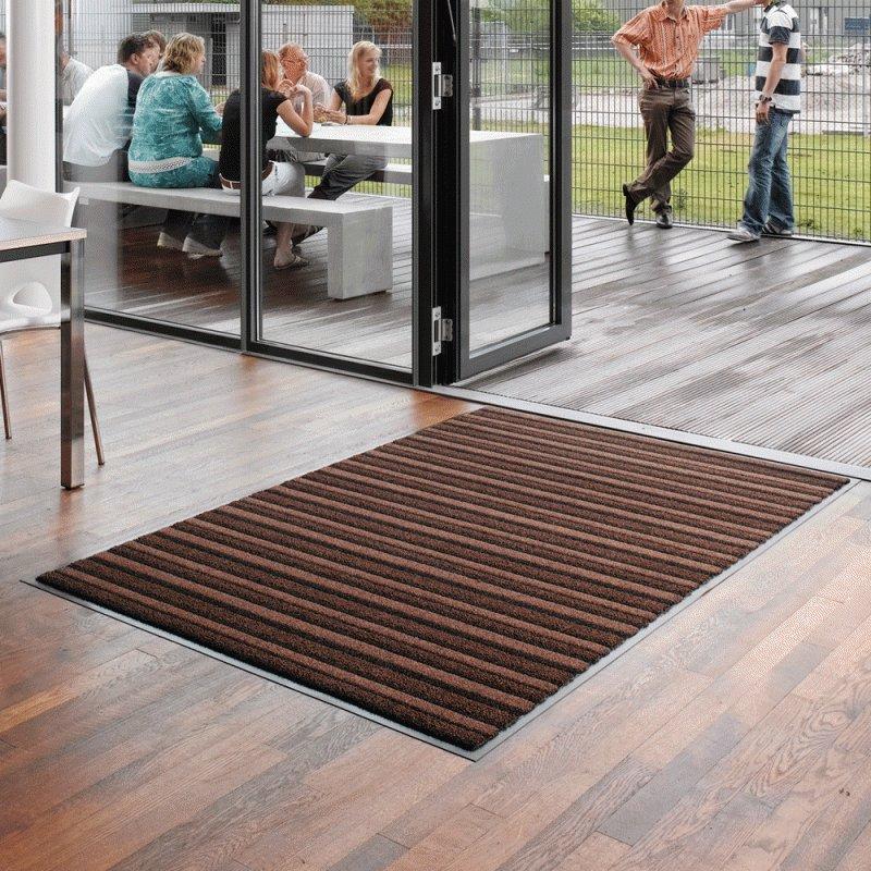 Hnědá textilní vstupní vnitřní čistící rohož Pasáž - délka 135 cm, šířka 90 cm a výška 0,9 cm