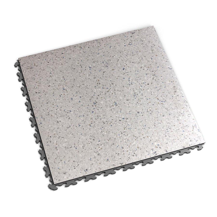 Šedá vinylová plastová dlaždice Solid Decor 2130, Fortelock - délka 47,2 cm, šířka 47,2 cm a výška 0,65 cm