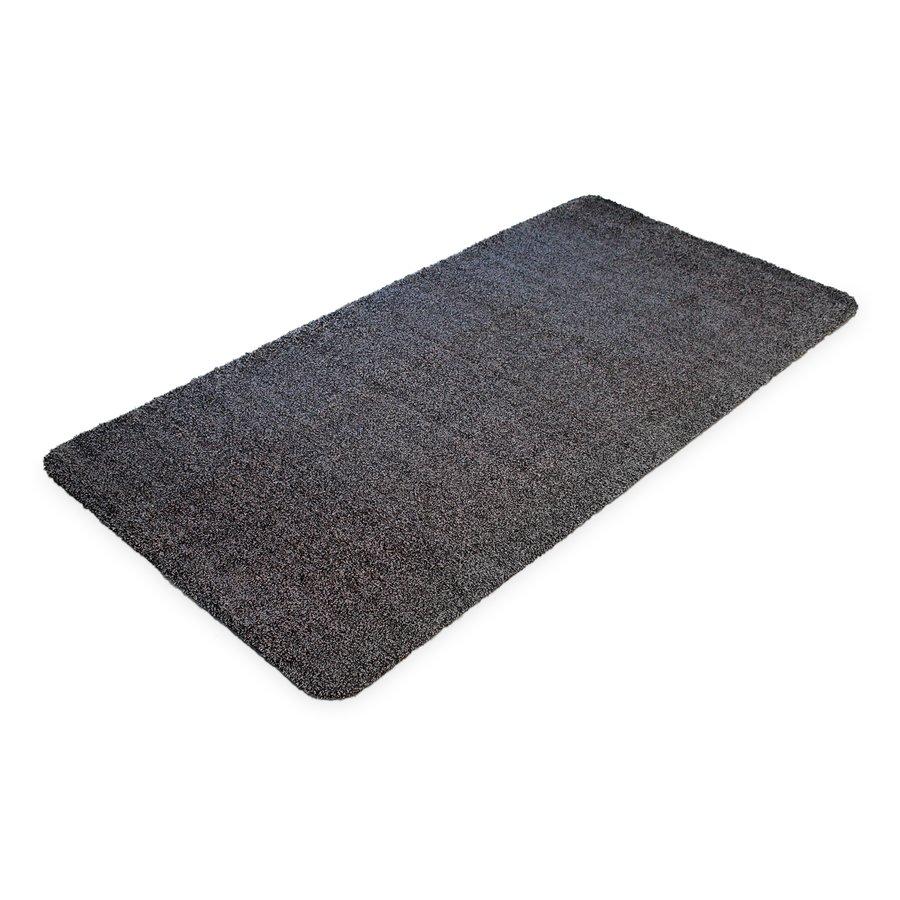 Černá bavlněná čistící vnitřní vstupní rohož - šířka 75 cm a výška 0,4 cm