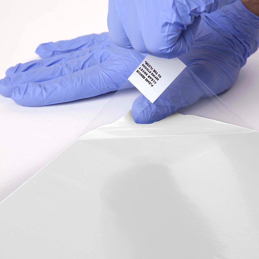 Bílá lepící dezinfekční antibakteriální dekontaminační rohož Antibacterial Sticky Mat, FLOMA - délka 60 cm a šířka 90 cm - 60 listů