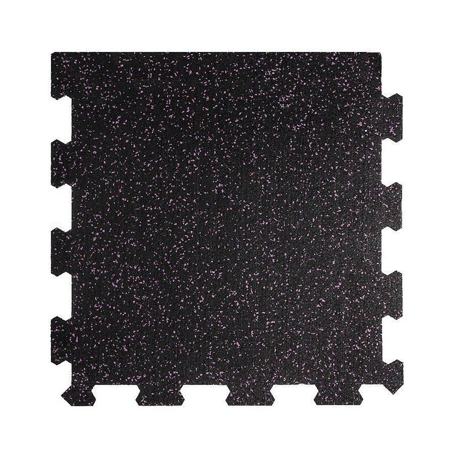 Různobarevná pryžová (10% EPDM STANDARD) modulární fitness deska (okraj) SF1050 - délka 47,8 cm, šířka 47,8 cm a výška 1,6 cm