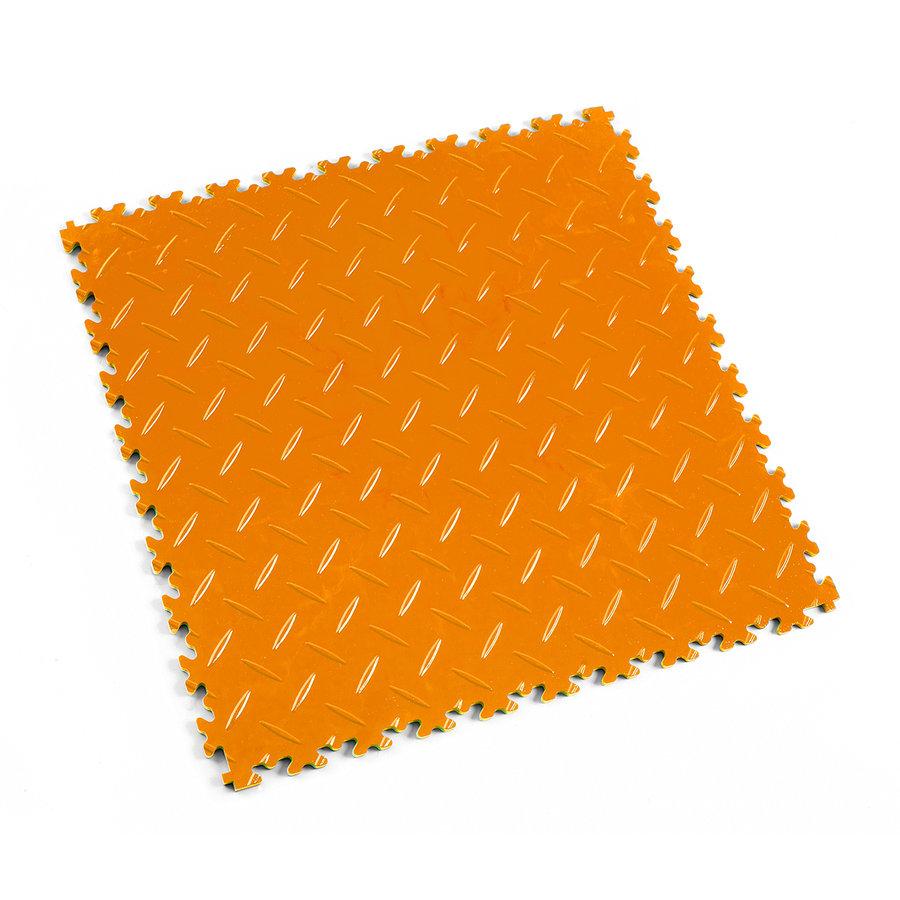 Oranžová vinylová plastová zátěžová dlaždice Industry 2010 (diamant), Fortelock - délka 51 cm, šířka 51 cm a výška 0,7 cm