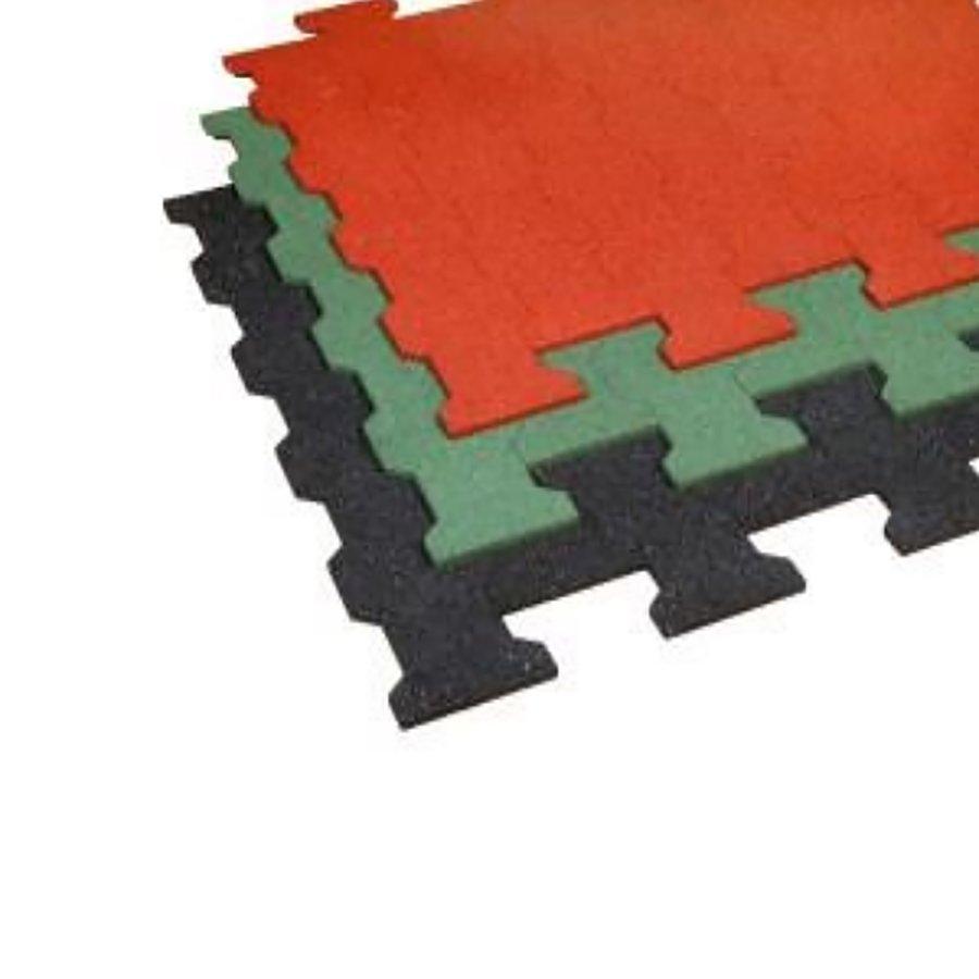 Červená gumová zámková dlažba ZD1/30 - délka 112 cm, šířka 100 cm a výška 3 cm
