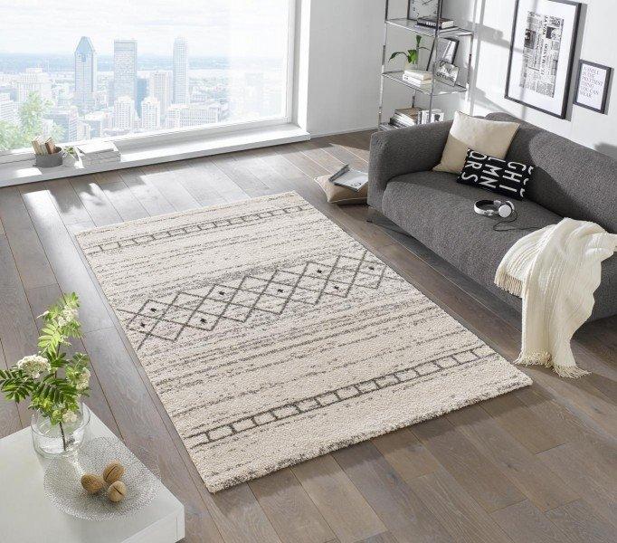 Béžový kusový moderní koberec Eternal