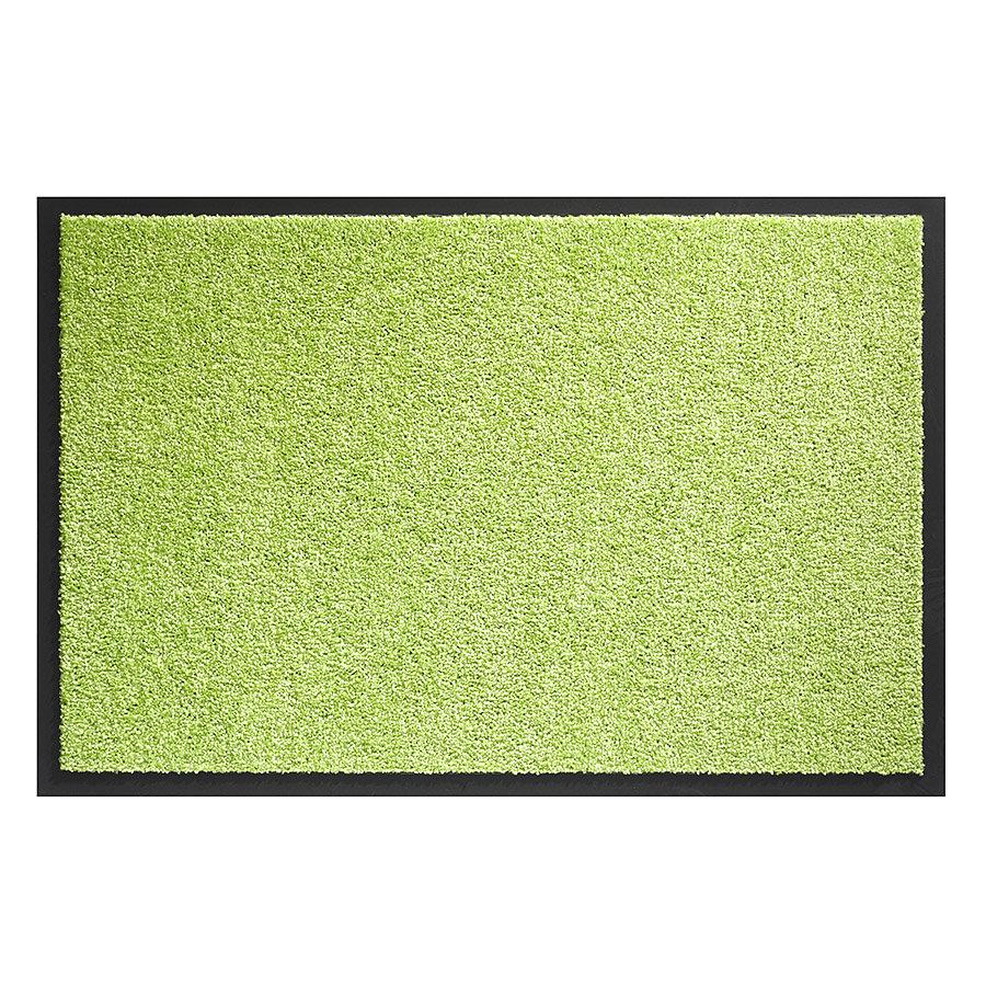 Zelená metrážová čistící vnitřní vstupní pratelná rohož Twister - délka 1 cm
