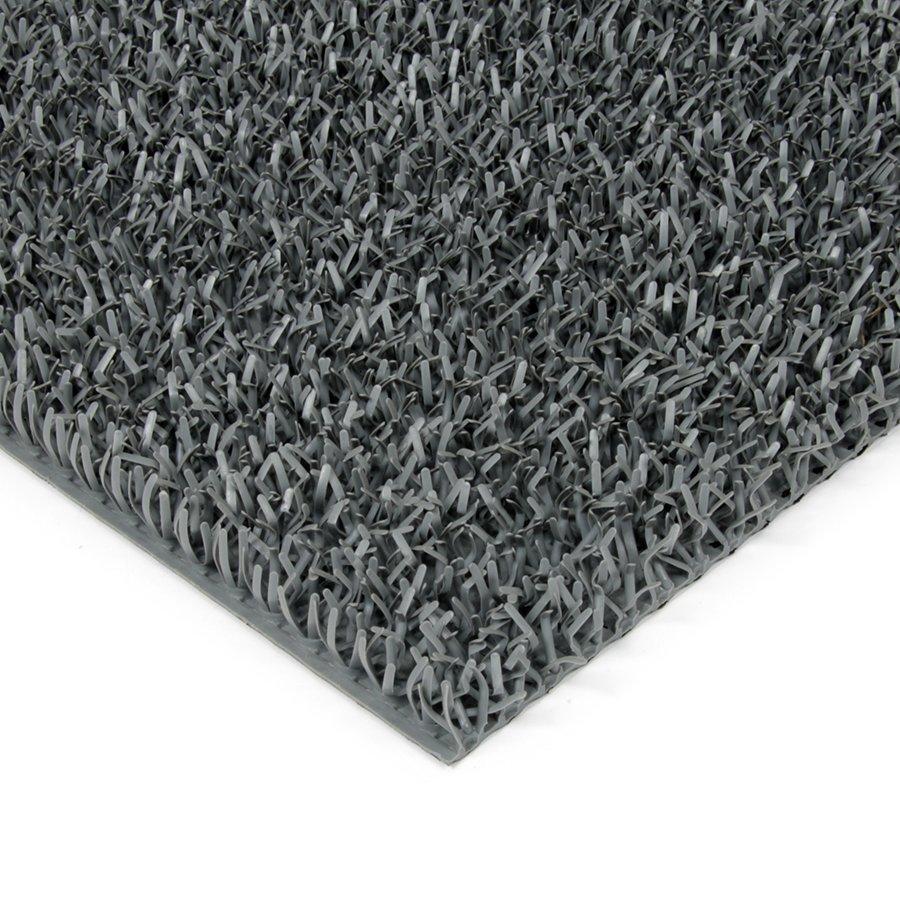 Šedá plastová univerzální čistící metrážová vstupní rohož FLOMA Astra - šířka 91 cm a výška 1,8 cm