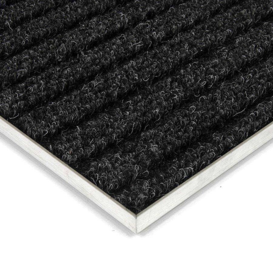 Černá kobercová vnitřní čistící zóna Shakira, FLOMA - délka 1 cm, šířka 1 cm a výška 1,6 cm