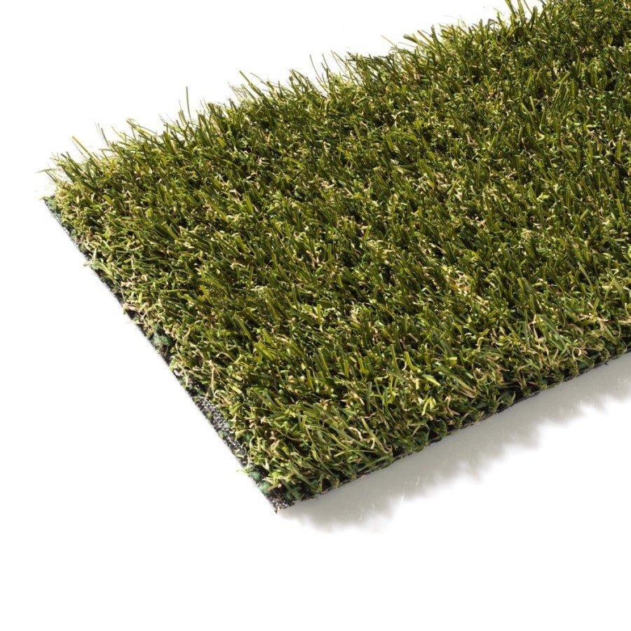 Zelený metrážový umělý trávník Novara, FLOMA - délka 1 cm a výška 3 cm