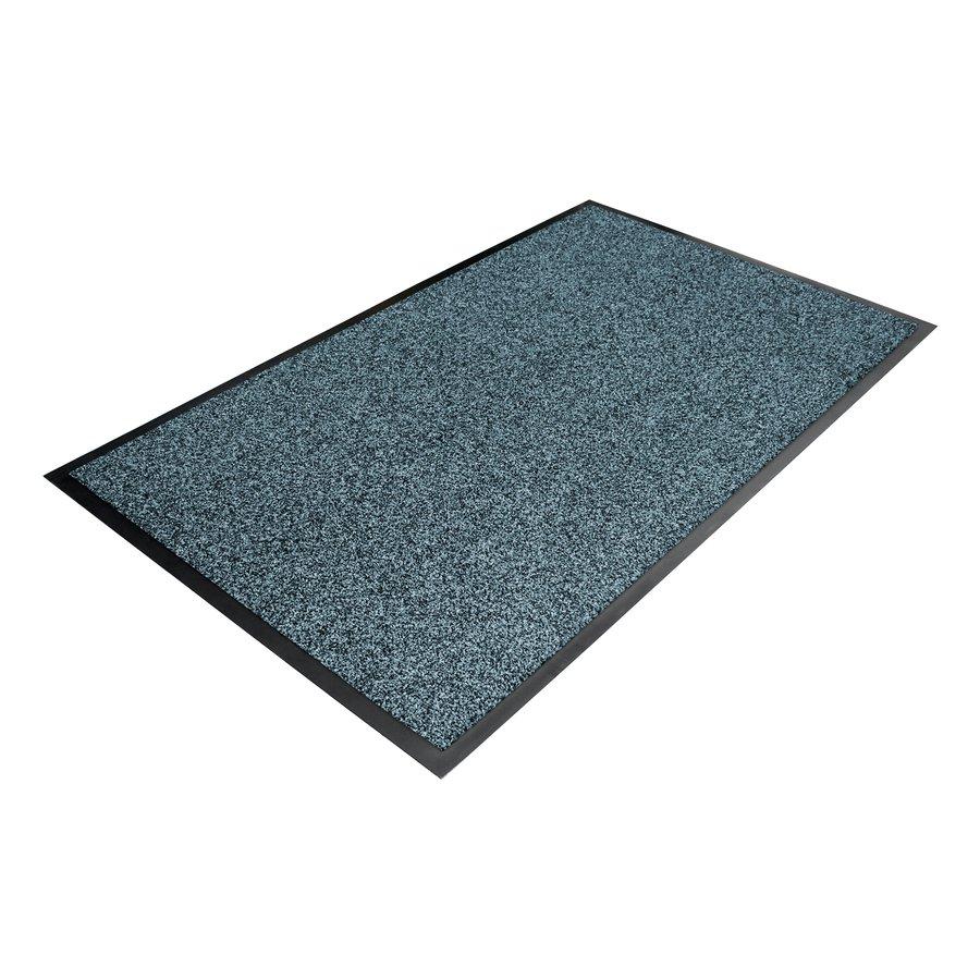 Modrá textilní vstupní vnitřní čistící rohož - délka 90 cm, šířka 150 cm a výška 1 cm