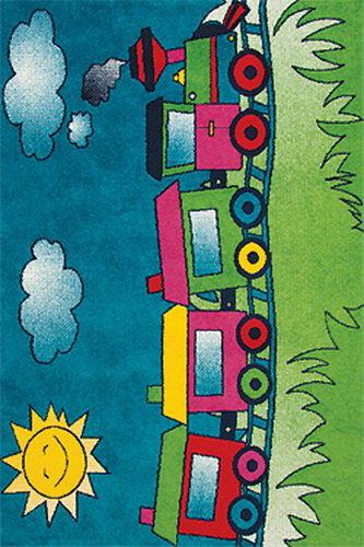 Modrý kusový dětský koberec Play - délka 170 cm a šířka 120 cm