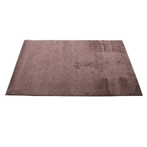 Hnědá bavlněná textilní pratelná vstupní vnitřní čistící rohož Natuflex - délka 100 cm, šířka 150 cm a výška 0,8 cm