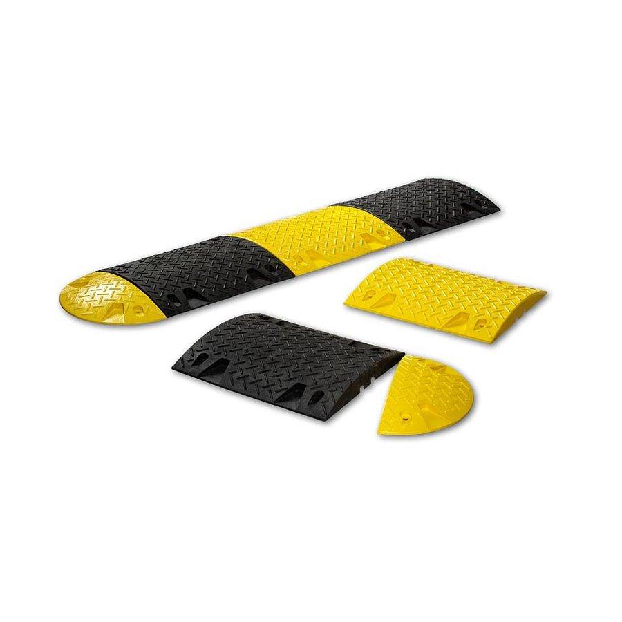 Žlutý plastový koncový zpomalovací práh - 20 km / hod