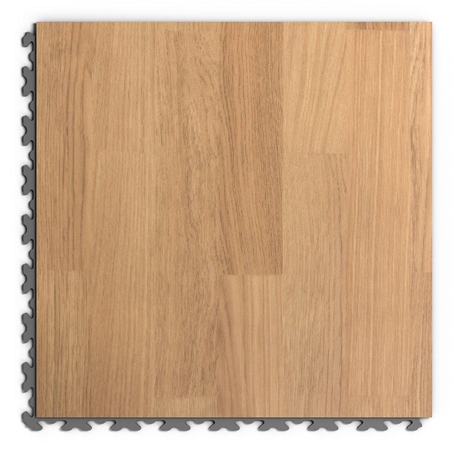 Hnědá PVC vinylová dlažba Fortelock Decor Home - délka 47,2 cm, šířka 47,2 cm a výška 0,65 cm