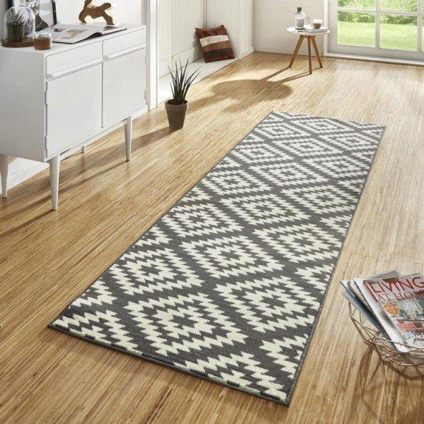 Šedý kusový moderní koberec Basic - délka 400 cm a šířka 80 cm