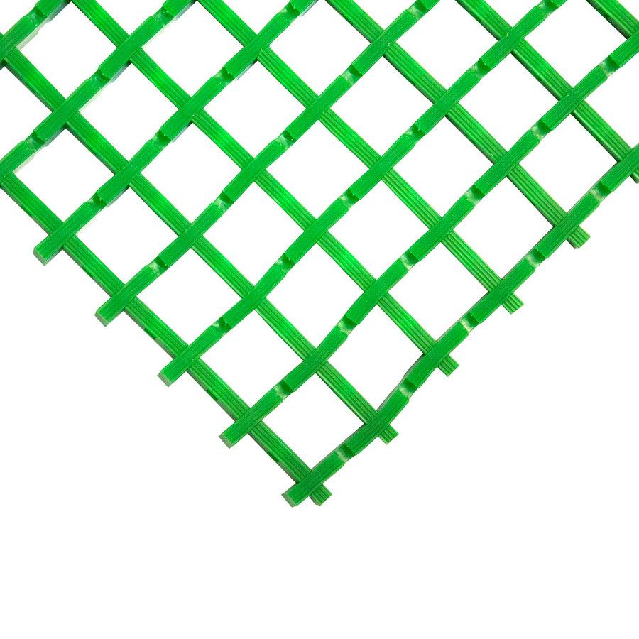 Zelená univerzální průmyslová protiskluzová olejivzdorná rohož (mřížka 22 x 22 mm) - délka 5 m, šířka 90 cm a výška 1,2 cm