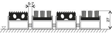 Hliníková gumová vstupní venkovní kartáčová rohož Alu Extra, FLOMA - délka 100 cm, šířka 100 cm a výška 2,7 cm