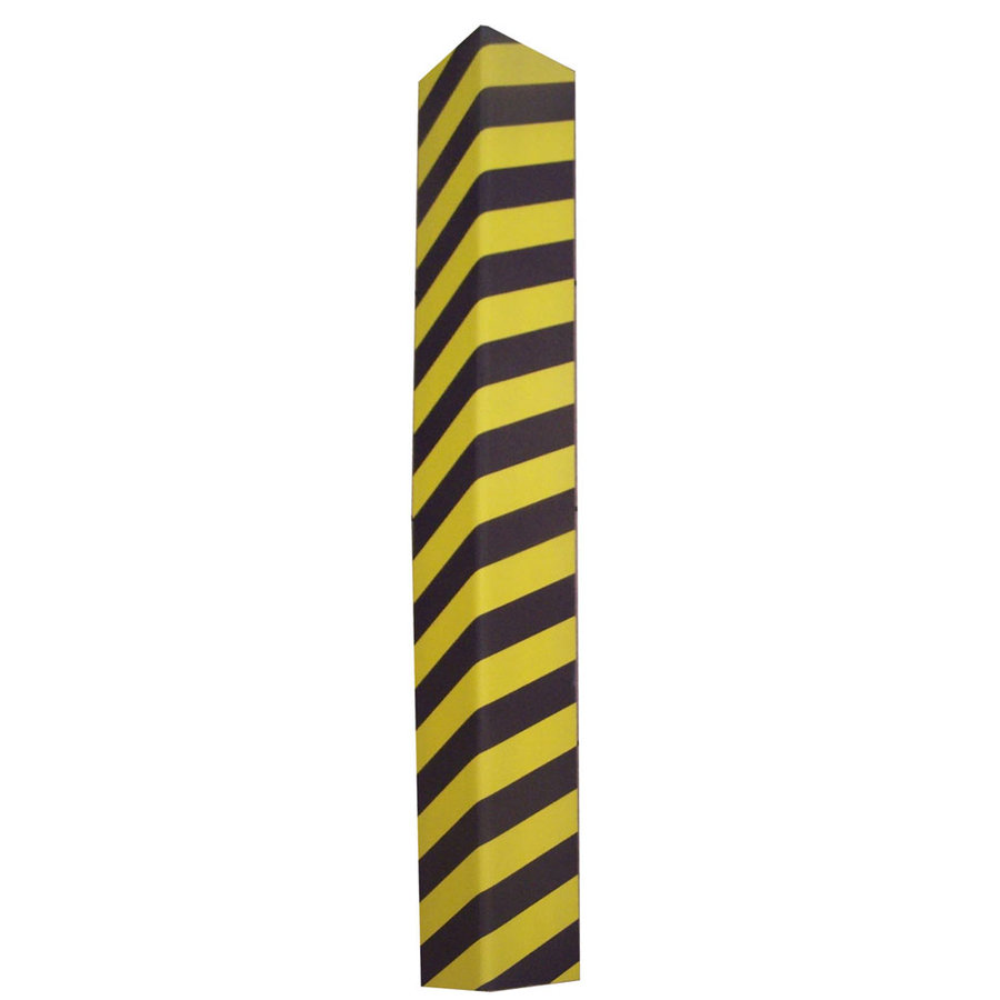 Černo-žlutý pěnový roh na ochranu stěn - délka 120 cm, šířka 12,5 cm a tloušťka 2,5 cm
