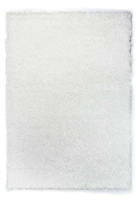 Bílý kusový koberec Bursa - délka 170 cm a šířka 120 cm
