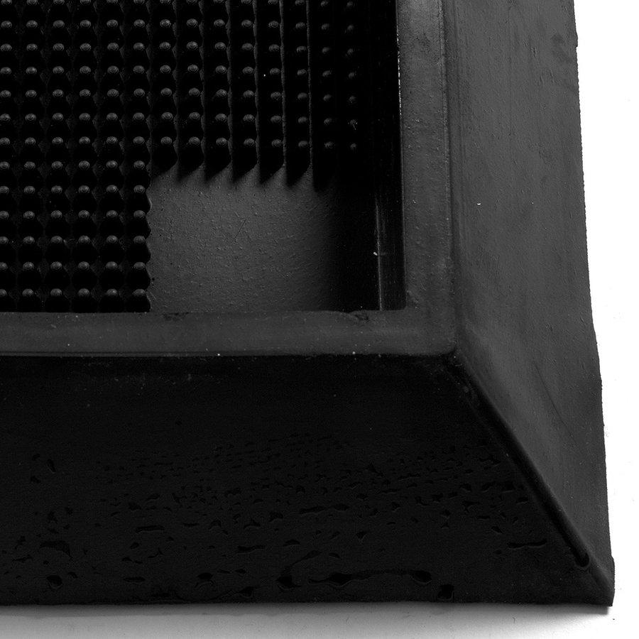 Černá gumová dezinfekční hygienická vstupní rohož FLOMA - délka 98 cm, šířka 81 cm a výška 4,7 cm