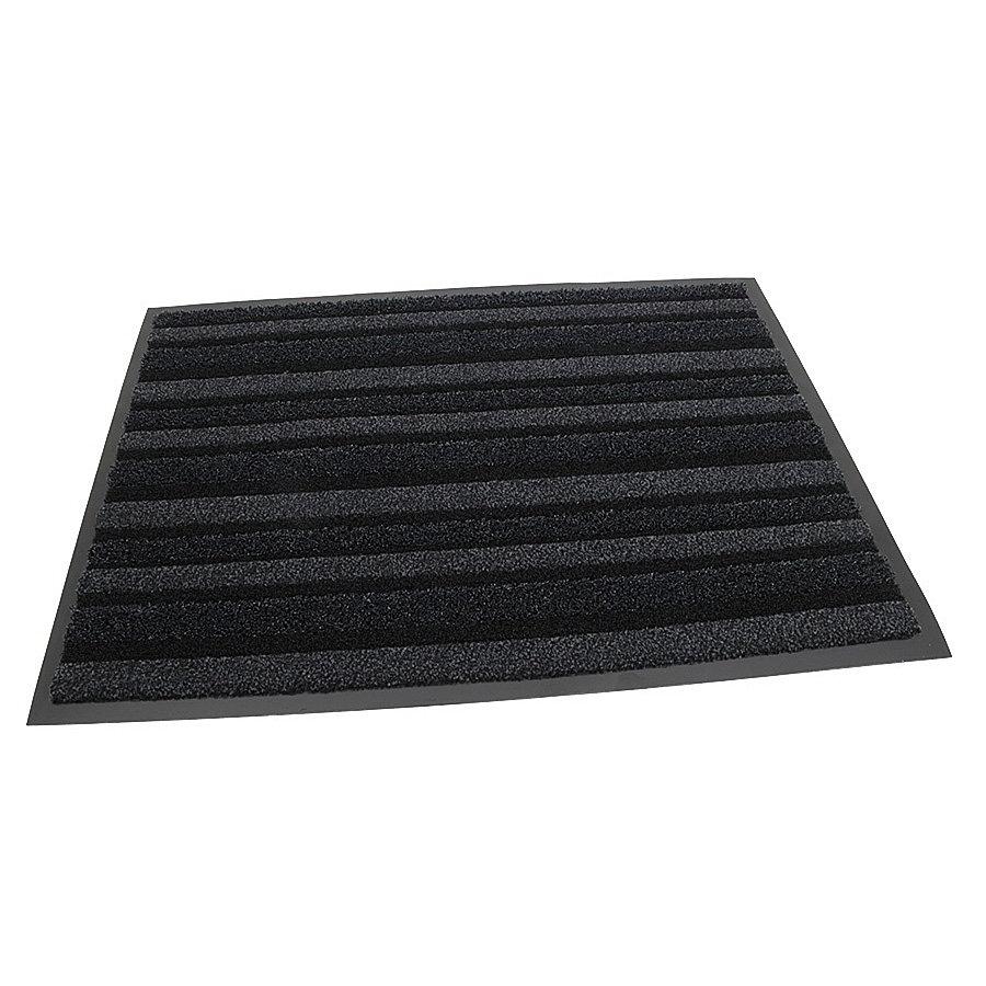 Antracitová vnitřní vstupní čistící metrážová rohož (lem - 2 strany) Passage, FLOMA (Cfl-S1) - délka 1 cm, šířka 135 cm a výška 0,9 cm