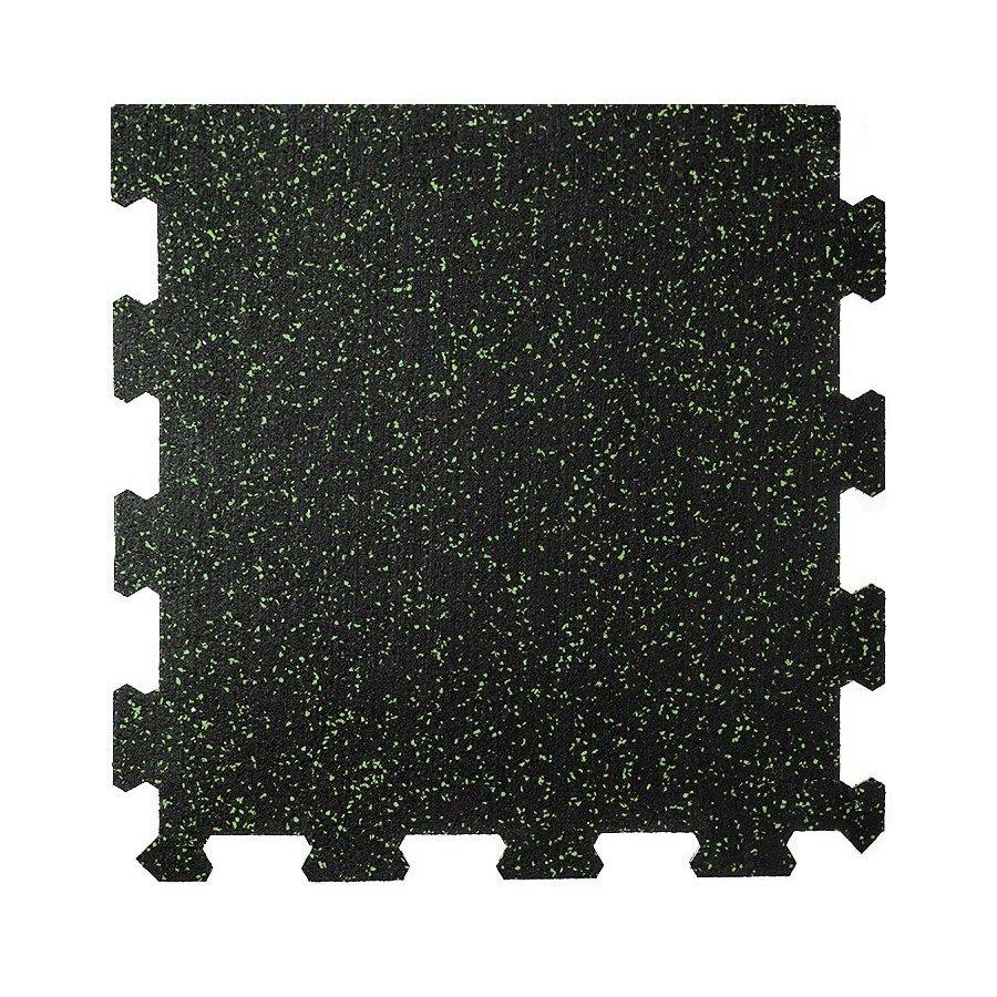 Různobarevná pryžová (10% EPDM PREMIUM) modulární fitness deska (okraj) SF1050 - délka 47,8 cm, šířka 47,8 cm a výška 1 cm